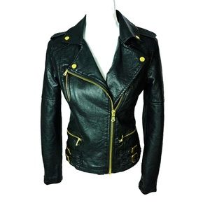 Women's Charlotte Russe Faux Leather Jacket Small
